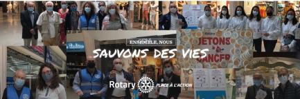 Le Rotary Club de Quimper-Odet et l'Interact Club de Quimper-Odet associés pour l'action Jetons Le Cancer